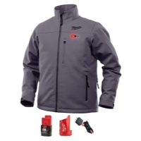 Image Milwaukee Electric Tools 202G-21S Milwaukee M12 Heated TOUGHSHELL Jacket Kit S (