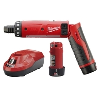"Image Milwaukee Electric Tools 2101-22 M4 1/4"" Hex Screwdriver Kit (2 Bat)"