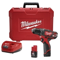 """Image Milwaukee Electric Tools 2407-22 M12 3/8"""" Drill Driver Kit"""