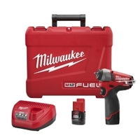 "Image Milwaukee Electric Tools 2452-22 M12 FUEL 1/4"" Impact Wrench Kit"