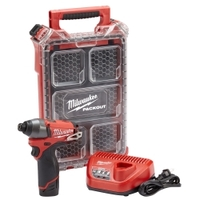 Image Milwaukee Electric Tools 2453-21P M12 FUEL 1/4 HEX IMPACT (1) BATTERY SPECIAL KI