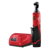 "Image Milwaukee Electric Tools 2457-21 M12 3/8"" Cordless Ratchet Kit"