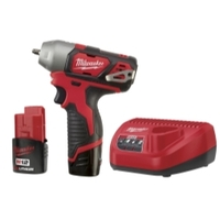 "Image Milwaukee Electric Tools 2461-22 M12 1/4"" Impact Wrench Kit"