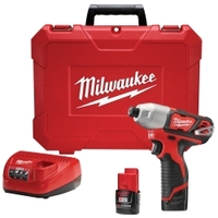 "Image Milwaukee Electric Tools 2462-22 M12 1/4"" HEX IMPACT DRIVER"