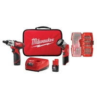 Image Milwaukee Electric Tools 2482-22 M12 (2402-22) Screwdriver w/ LED Light & Bit Se