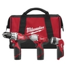 "Image Milwaukee Electric Tools 2493-23 M12 3pc - 3/8"" Combo Kit"