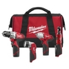 Image Milwaukee Electric Tools 2493-24 M12 4pc Automotive Combo Kit