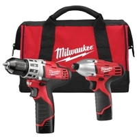 Image Milwaukee Electric Tools 2494-22 M12 COMBO DRILL/IMPACT W/2 BAT