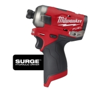"Image Milwaukee Electric Tools 2551-20 Milwaukee M12 FUEL SURGE 1/4"" Hex Hydr Dri"