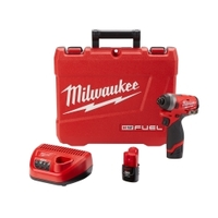 "Image Milwaukee Electric Tools 2553-22 M12 FUEL 1/4"" Hex Impact Driver Kit"