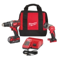 "Image Milwaukee Electric Tools 2606-21L M18 1/2"" Drill & LED Light Special Kit"