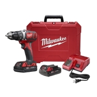 "Image Milwaukee Electric Tools 2606-22CT M18 Compact 1/2"" Drill Driver Kit"