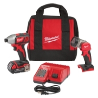 Image Milwaukee Electric Tools 2656-21L M18 Impact Driver & LED Work Light Special Kit