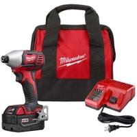 """Image Milwaukee Electric Tools 2656-21P Milwaukee M18 1/4"""" Hex Impact Driver 1 Ba"""