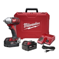 """Image Milwaukee Electric Tools 2658-22 M18 3/8"""" Impact Wrench W/ XC batteries"""
