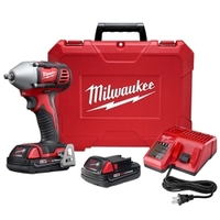 """Image Milwaukee Electric Tools 2658-22CT M18 3/8"""" Impact Wrench w/ compact batter"""