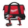 "Image Milwaukee Electric Tools 2693-22 M18 3/8"" Impact Combo Kit"