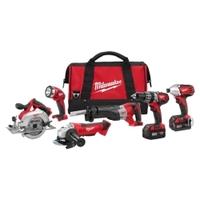 Image Milwaukee Electric Tools 2696-26 M18 Cordless LITHIUM-ION 6-Tool Combo Kit