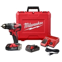 "Image Milwaukee Electric Tools 2801-22CT Milwaukee M18 Compact Brushless 1/2"" Dri"