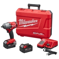 "Image Milwaukee Electric Tools 2861-22 M18 FUEL 1/2"" Mid-Torque Impact Wrench Kit"