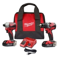 Image Milwaukee Electric Tools 2892-22CT Milwaukee 2-Piece M18 Compact Drill Driver /