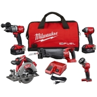 Image Milwaukee Electric Tools 2997-25 M18 FUEL 5 PC COMBO KIT