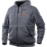 Image Milwaukee Electric Tools 302G-21XL M12 Heated Hoodie Kit Xl (Gray)