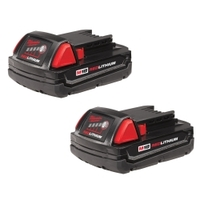 Image Milwaukee Electric Tools 48-11-1811 M18 REDLITHIUM Compact Battery 2 Pack