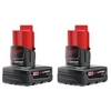Image Milwaukee Electric Tools 48-11-2412 M12 REDLITHIUM XC Battery 2 Pack
