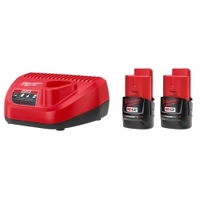 Image Milwaukee Electric Tools 48-11-2432P Milwaukee 2-Pack of M12 3.0 CP 12V Batterie