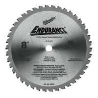 "Image Milwaukee Electric Tools 48-40-4515 CIRCULAR SAW BLADE METAL CUT 8"" 42T"