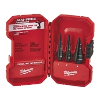 Image Milwaukee Electric Tools 48-89-9221 Milwaukee 3pc Step Drill Bit Set (#1, #2, #4