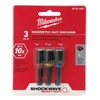 "Image Milwaukee Electric Tools 49-66-4561 Shockwave 1-7/8"" (3pc) Magnetic Nut Dri"
