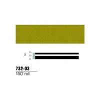 "Image 3M 73203 GOLD METALLIC PINSTRIPE 1/4""X150' ROLL"