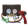 Image Mastercool 55100-R-KIT Electronic AC Leak Detector with Brass Gauge Set