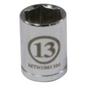 "Image Mountain MTN10413M 1/4"" Drive 13MM 6 Point Socket"