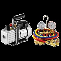 Image Mountain LXKIT6 Vacuum Pump and Manifold Gauge set