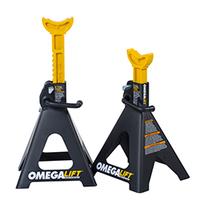 Image Omega 32068 6 ton double locking ratchet style jack stands