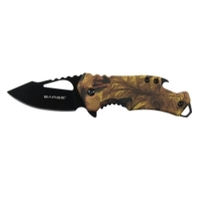 Image Sarge SK-502CAMO CAMO FUSE - POCKET KNIFE & BOTTLE OPENER
