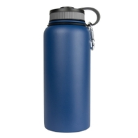 Image Sarge WB-32BL 32oz Blue Stainless Steel Water Bottle