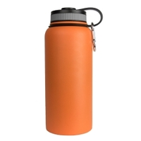 Image Sarge WB-32OR 32oz Orange Stainless Steel Water Bottle
