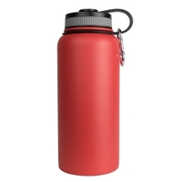 Image Sarge WB-32RD 32oz Red Stainless Steel Water Bottle