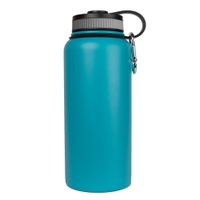 Image Sarge WB-32T 32oz Teal Stainless Steel Water Bottle