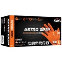 Image SAS Safety 66572 ASTRO GRIP PF ORANGE NITRILE (MEDIUM) 100CT