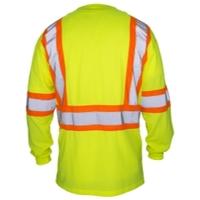 Image SAS Safety 690-1610 SAS Safety Class-2 Long Sleeve Reflective Yellow