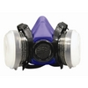 Image SAS Safety 8661-92 BANDIT HALF MASK RESP W/OV CART. & N95 FILTER M