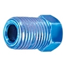 Image S.U.R. and R Auto Parts BR210 M10 X 1.0 BLUE INVERTED FLARE NUT (4)
