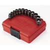 "Image Sunex 1822 12pc 1/4"" Dr. Magnetic Metric Impact Socket Set"
