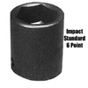 "Image Sunex 0232 SOCKET IMPACT 1"" 1/2"" DRIVE STD 6 POINT"