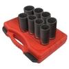 """Image Sunex 2835 1/2"""" Dr. Deep 12 Pt. Spindle Nut Impact Socket Set"""